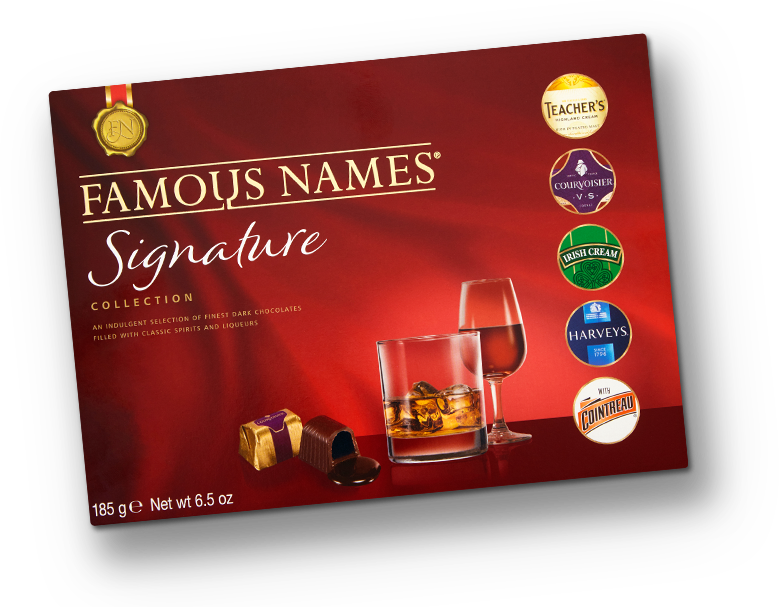 Elizabeth Shaw Famous Names Signature Collection liqueurs box