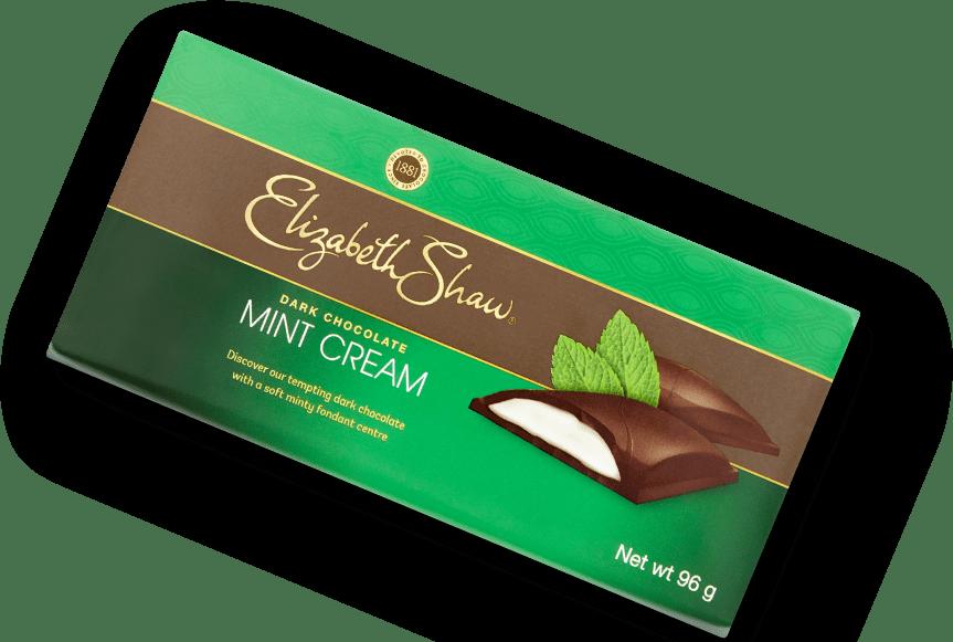 Elizabeth Shaw Dark Chocolate Mint Cream Bar header pack